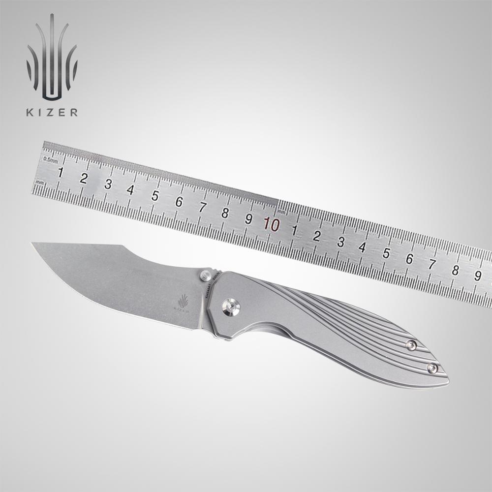 Kizer-سكين تكتيكي ذو شفرة قابلة للطي ، KI4548A1 2020 ، للتخييم والصيد في الهواء الطلق