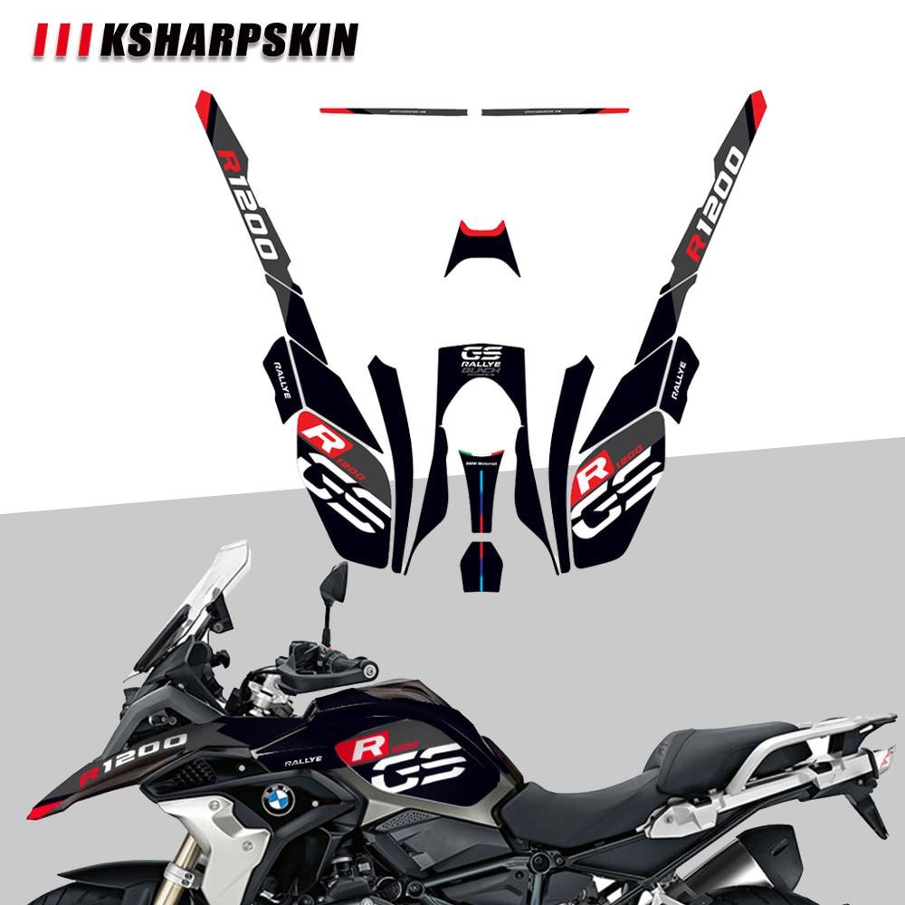 KSHARPSKIN-ملصق واقي لتزيين الجسم للدراجات النارية ، ملصق عاكس لسيارات BMW R1200GS R1200 gs 2017 2018