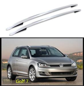 For Volkswagen VW Golf 6 Golf 7 2004-2019 Roof Rack Rails Bar Luggage Carrier Bars top Racks Rail Boxes Aluminum alloy 3m paste