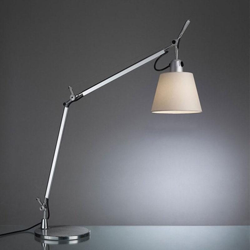 Lámpara De Mesa moderna con brazo largo oscilante Para sala De estar,...