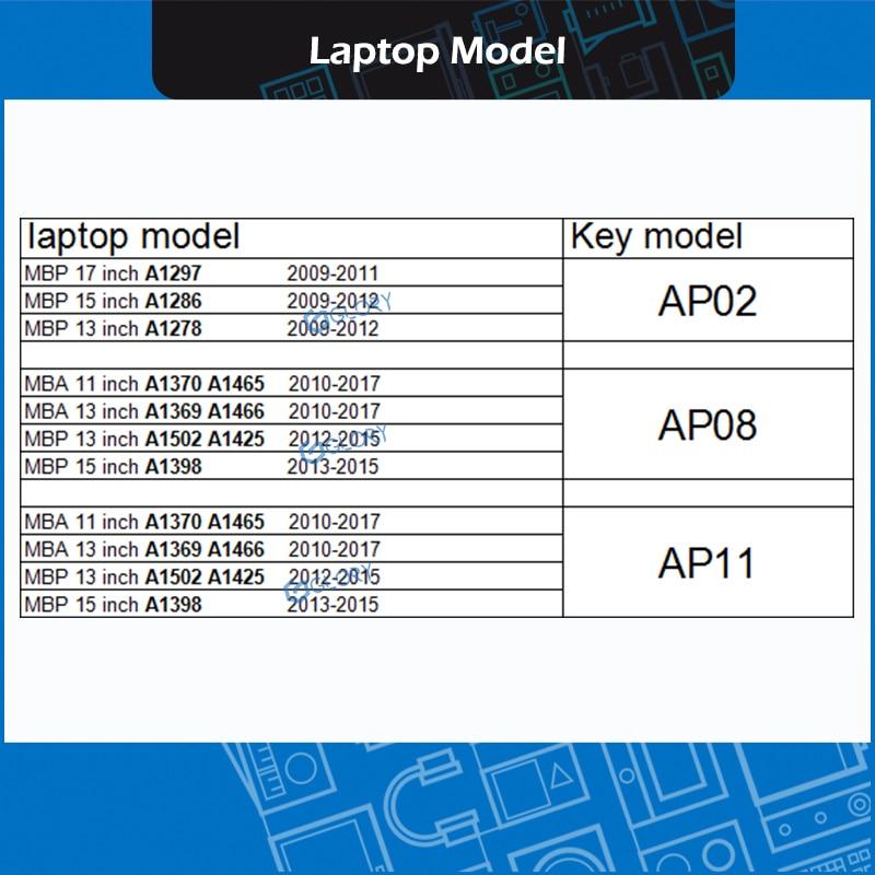 10 مجموعة/وحدة AP02 AP08 AP11 غرار Keycap مجموعة ل ماك بوك A1278 A1286 A1297 A1370 A1465 A1369 A1466 A1425 A1502 A1398 لوحة المفاتيح إصلاح