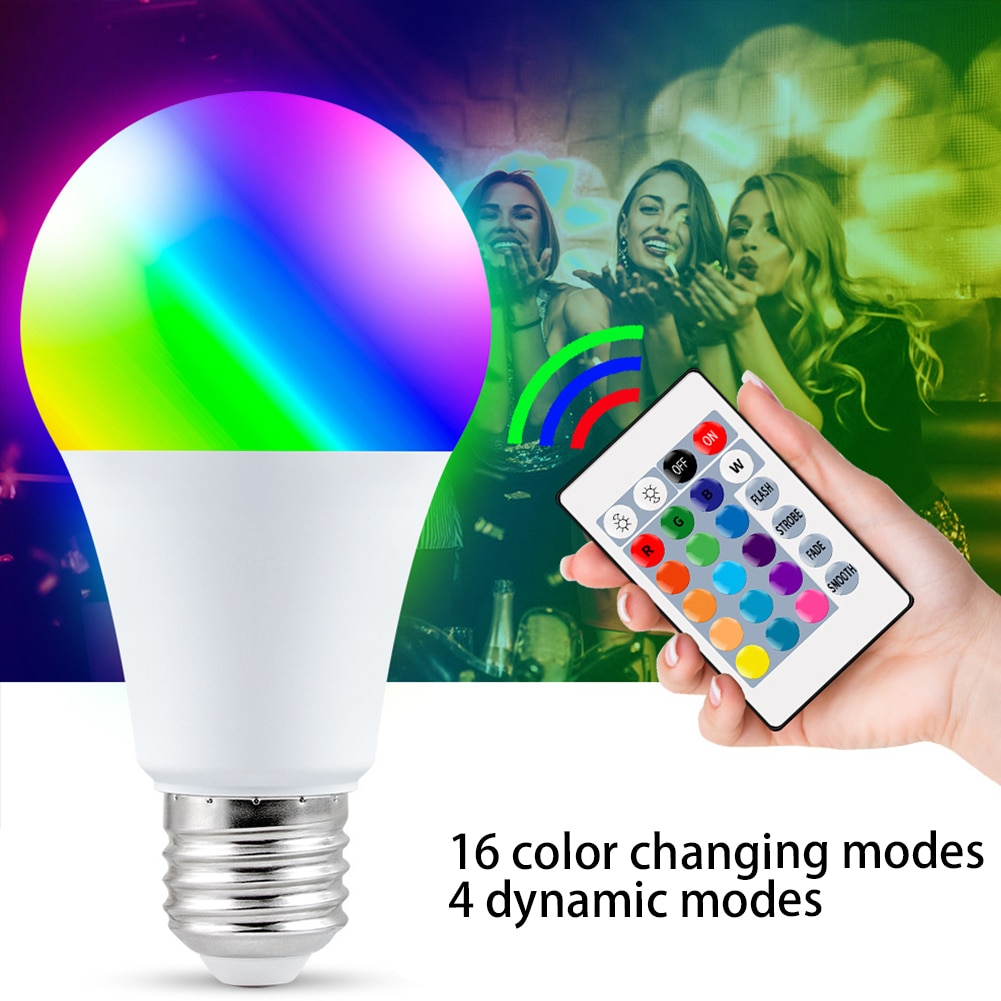 E27 Light Bulb Smart Control Lamp Led RGB Light Dimmable 5W 10W 15W RGBW Led Lamp Colorful Changing Bulb Led Lampada Home Decor