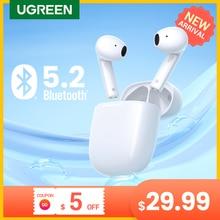 【NEW】UGREEN HiTune H3 TWS Bluetooth 5.2 Earphones Wireless Headphones 70ms Low Latency Gaming Earbuds 2 Mics 25H Playtime