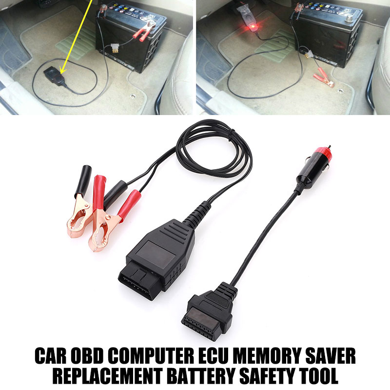 Ecu メモリセーバーコンピュータ Ecu メモリインテリジェント OBD 車メモリセーバーワニクランプ電源コードコネクタ 12V OBD2 30A