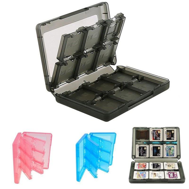 24 en 1 boîte de cartes à jouer Portable boîte de rangement de cartouche noire pour Nintendo DS 3DS coque rigide antichoc pour Nintendo Switch NS