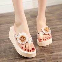 2021 women flip flops sandals heels platform wedge slippers outdoor beach female thick sole slides sandals summer girl shoes new