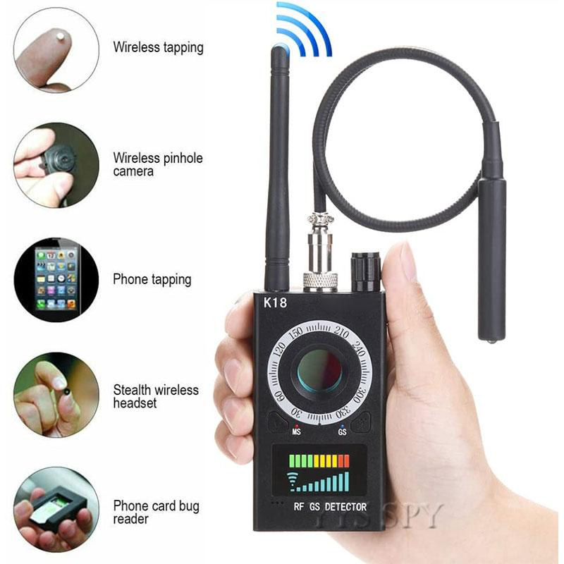 K18 Anti Spy RF Signal Scanner Hidden Camera Detector Anti Candid Camara Magnetic GPS Tracker Wireless Mini Audio GSM Bug Finder
