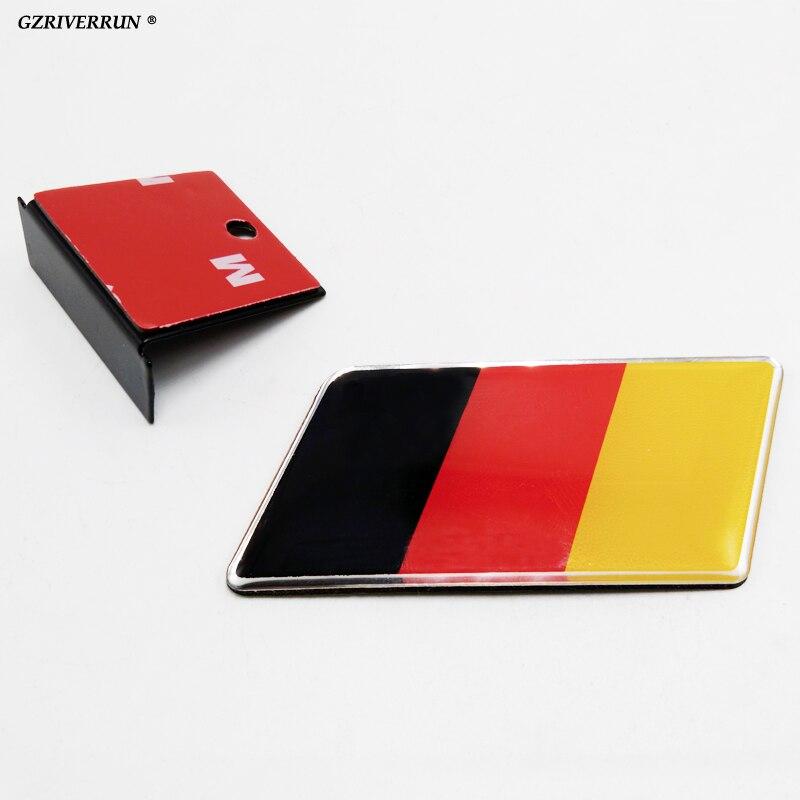 Logotipo da bandeira do emblema da grade do emblema do carro de gzriverrun para volkswagen audi a1 a3 a6 amg alfa romeo bmw e39 e46 toyota scania...