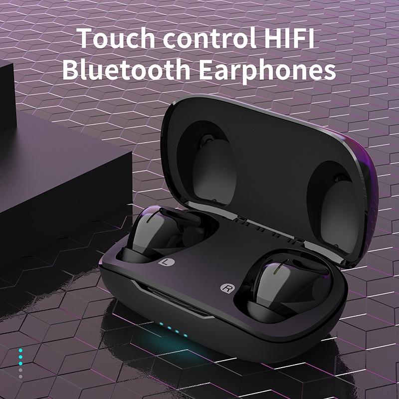 Marca Mees, auriculares TWS T6 Bluetooth inalámbrico verdadero 5,1, auriculares manos libres, auriculares de Control táctil a prueba de sudor, resistentes al agua, auriculares Bluetooth