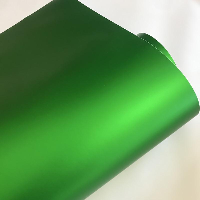 10/20/30/40/50X152CM Матовый Металлик зеленый виниловый клей для выпуска воздуха матовый хром пленка для автомобиля Фольга Наклейка для скутера мот...