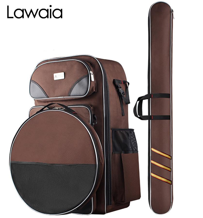 Lawaia Waterproof Fishing Bag Multi-Purpose Fishing Bags Backpack Fish Bags Outdoor Fishing Pole Canvas Multifunctional Backpack