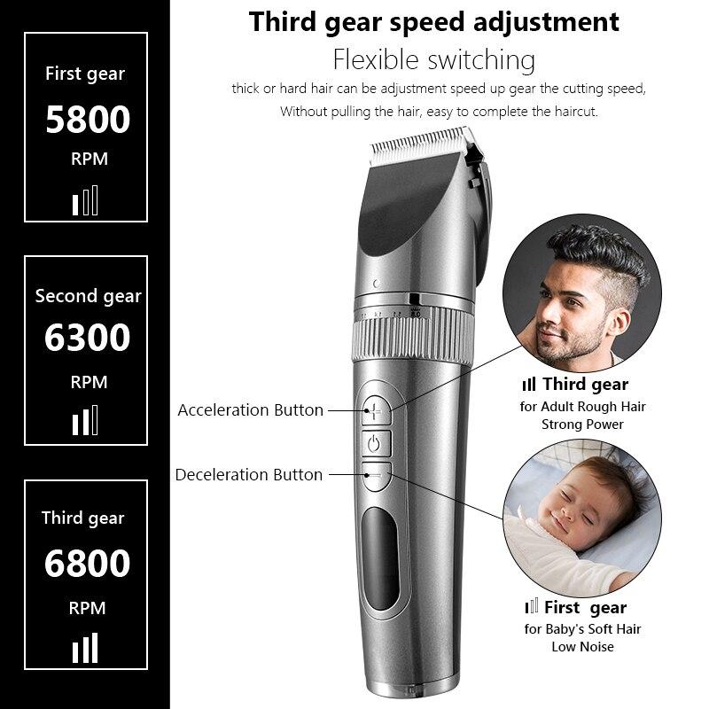 Professional Hair Clipper For Men Beard Trimmer Machine for Shaving Hair Trimmer Hair Cutting Machine Beard Trimmer Fast Charge enlarge