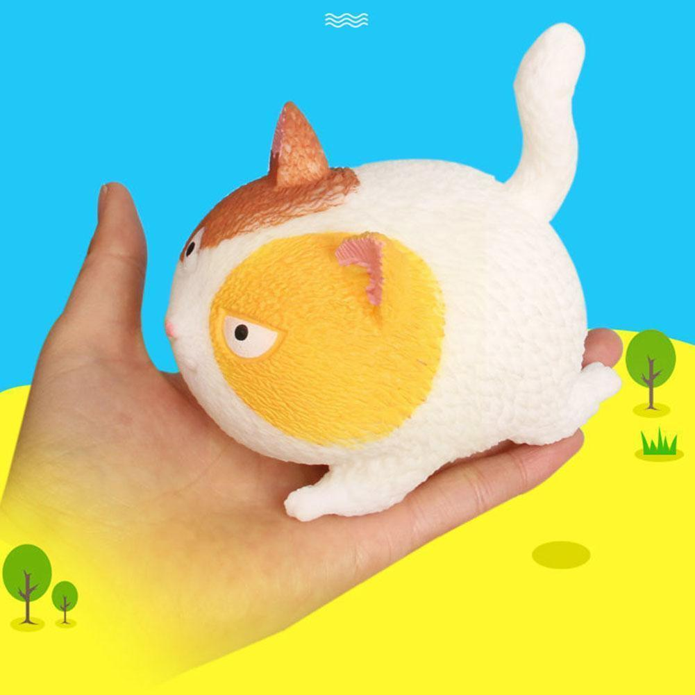 4 цвета, игрушки для снятия стресса, кошки, милые Мультяшные игрушки для снятия стресса, сжимаемые мягкие антистрессовые игрушки X0D
