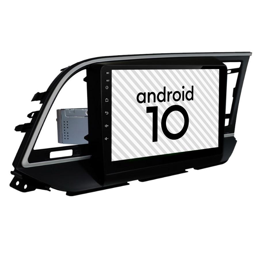Coche reproductor Multimedia Android 10 Octa Core 4G Lte Gps para Hyundai Elantra 2016 2017 navegador estéreo unidad frontal de Radio (RHD)