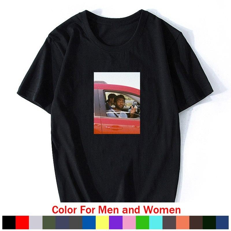 Infantil Gambino camiseta de rapero hombres impresión pantalón corto Casual manga Hip Hop camisas de algodón de música de verano camiseta estética ropa