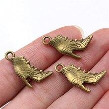 23x17mm 10 pièces Antique Bronze plaqué bottines fait main pendentif à breloques bricolage pour bracelet necklace-Q6-04