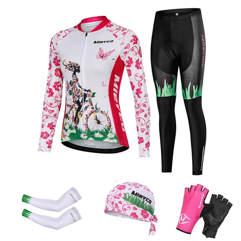 Ropa de Ciclismo para Mujer, Maillot de manga larga, ropa de Ciclismo...