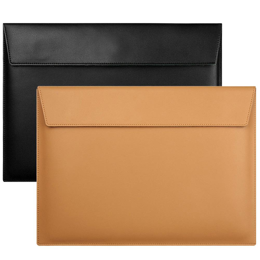 Nueva llegada, l 13/15 pulgadas, ultrafino, cuero de imitación, bolsa de almacenamiento para portátil, funda para M acBook Air Pro