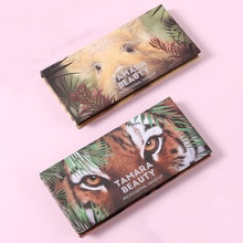 Göz farı paleti 12 renk renkli su geçirmez kapatıcı makyaj paleti Lasting-etkisi göz farı hayvan domuz kaplan göz farı