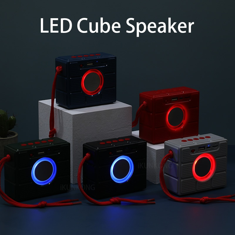 LED minialtavoz Portátil con Bluetooth FM Radio parlantes inalámbricos pequeños música Radio...