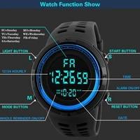 branded sports watch fashion led mens watches calendar luminous multifunction waterproof military electronic clock wristwatch