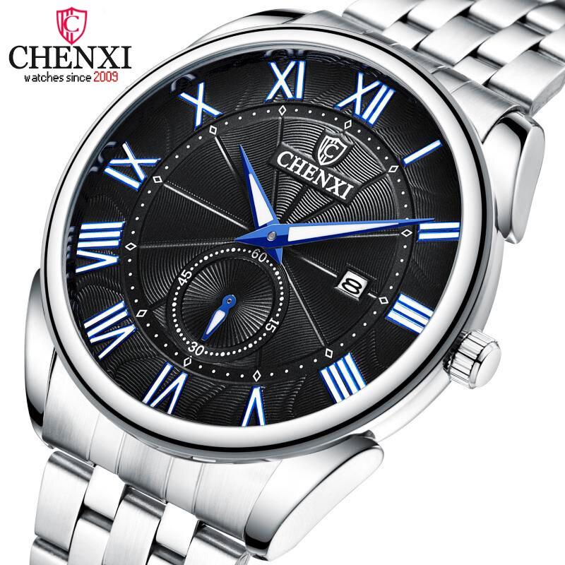 CHENXI Mens Watches Top Brand Luxury Stainless Steel Quartz Watch Men Waterproof Casual Sport Male Wrist Watch Relogio Masculino