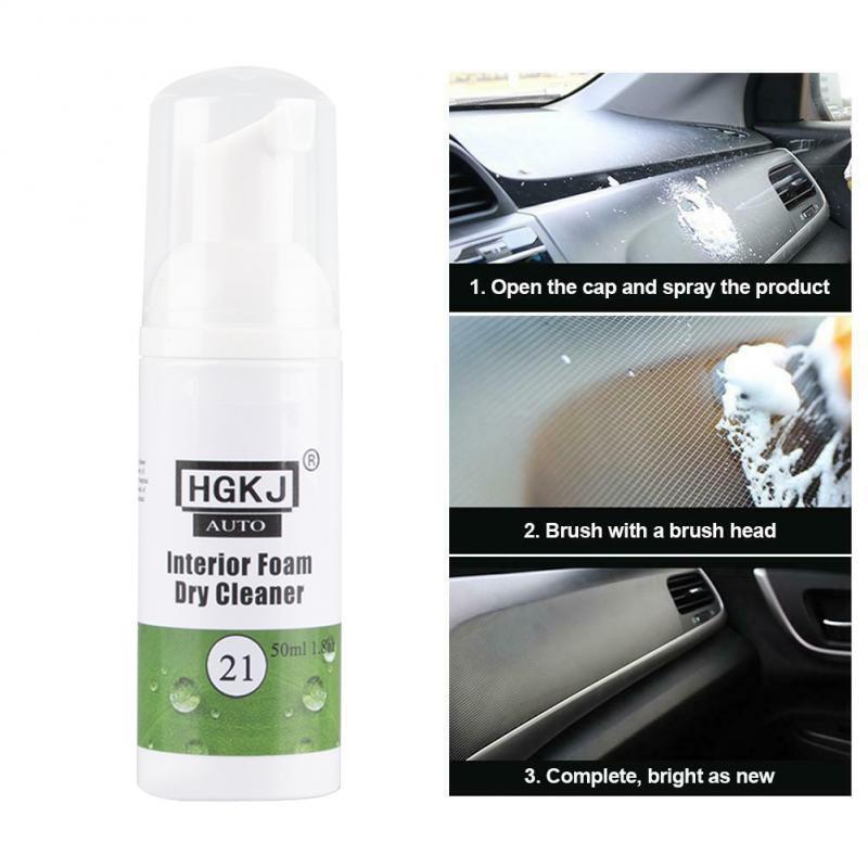Limpiador de interiores de coche HGKJ-21-50ml limpiador de espuma Interior limpiador para ventanas de automóviles accesorios de lavado de coches TSML