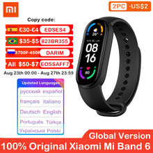 Оригинальный спортивный браслет Xiaomi Mi Band 6, фитнес-трекер сердечного ритма, смарт-браслет Miband 6 с AMOLED экраном 1,56 дюйма, 5 цветов