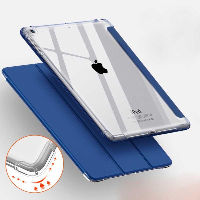 Para Apple iPad 9,7 pulgadas 2017/2018 funda para iPad Air 1/2 funda Auto wake up sleep corner a prueba de golpes funda transparente tpu para tableta