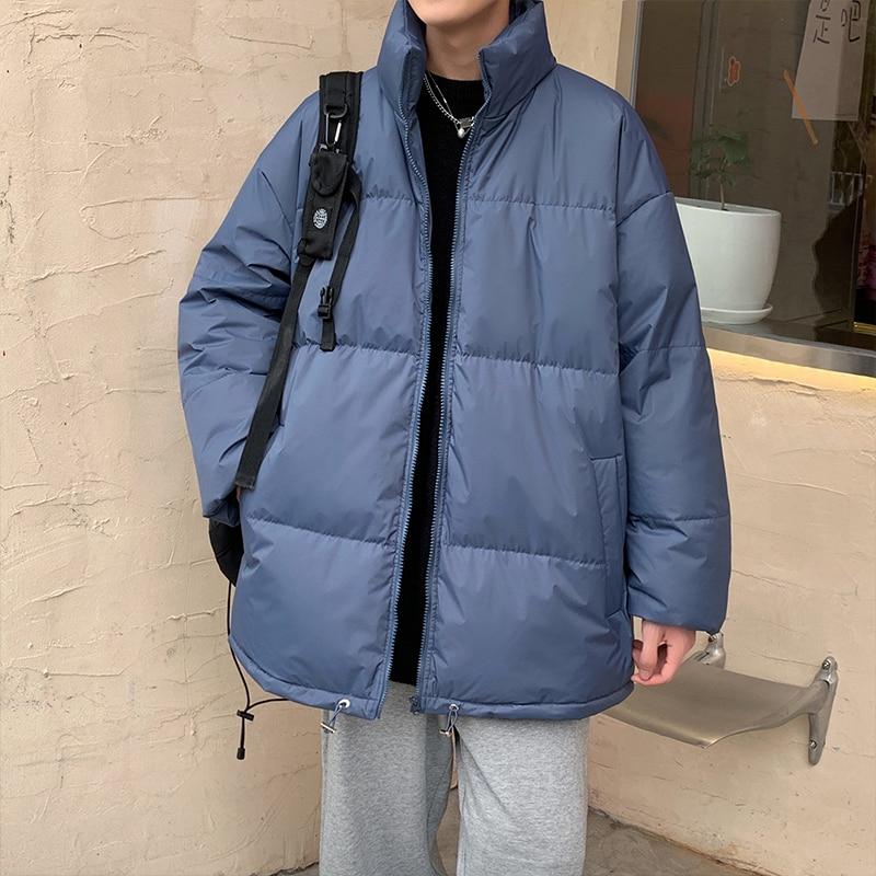Новинка 2021, мужская зимняя куртка, теплое мужское зимнее пальто, повседневное свободное студенческое мужское пальто, зимняя куртка для мужч...