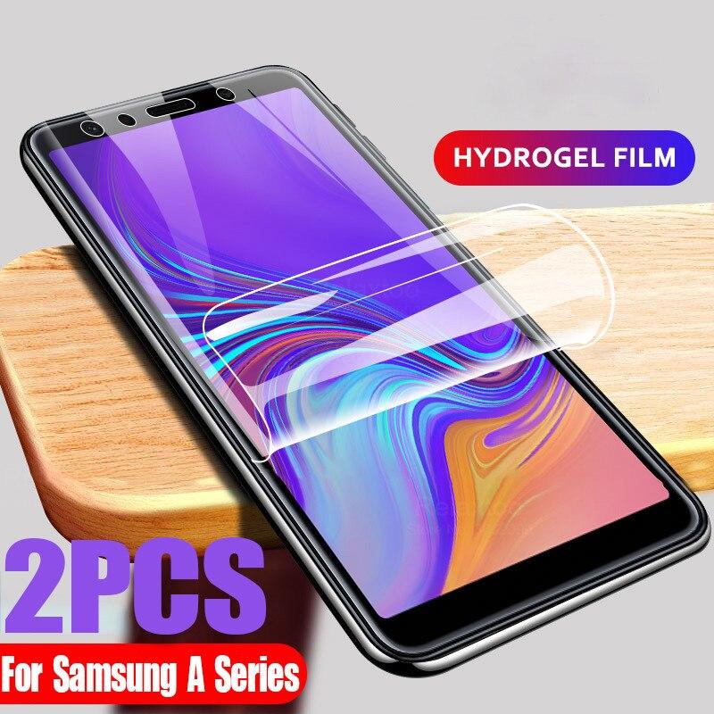 2pcs Soft Hydrogel Film For Samsung Galaxy j6 j4 plus a7 a8plus Screen Protector For Samsung m21 m30s m31 m10 m11 safty film