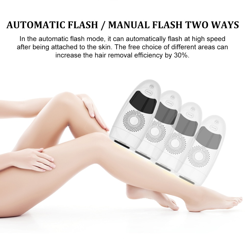999999 Flashes Laser Epilator Photoepilator LCD Laser Hair Removal Household Device Men and Women Facial Private Parts Shaving enlarge