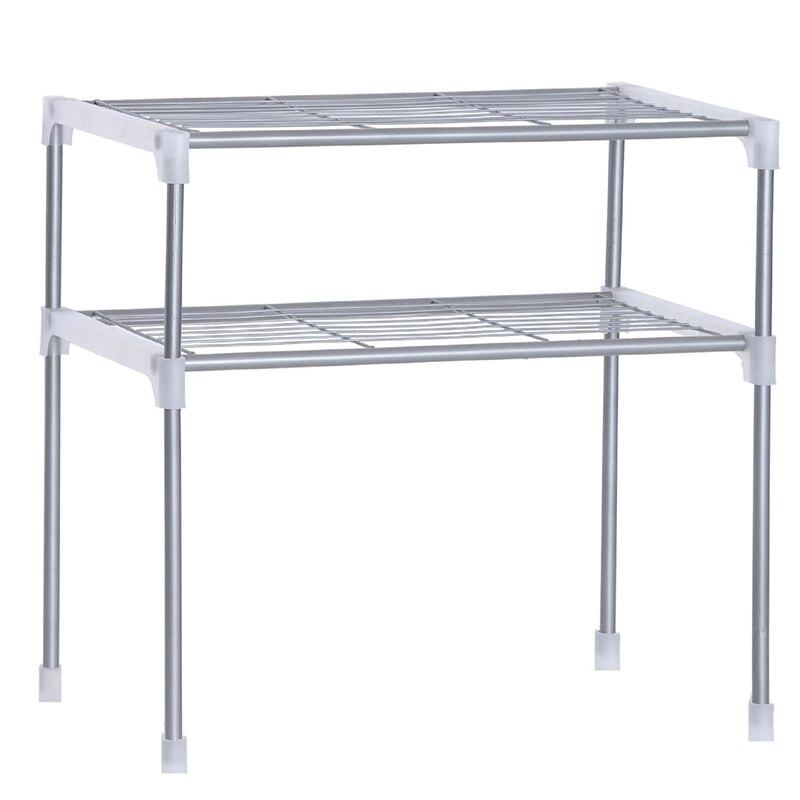 رف فولاذي للميكرويف ، قابل للتعديل ، رف قابل للفصل ، للمطبخ ، أدوات المائدة ، الحمام ، تخزين المنزل