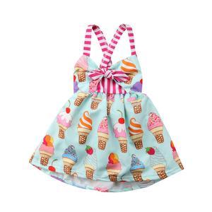 Toddler Newborn Clothes Kids Baby Girls Summer Straps Princess Dress Backless Pattern Girl Tutu Dresses Sundress Kids Clothes