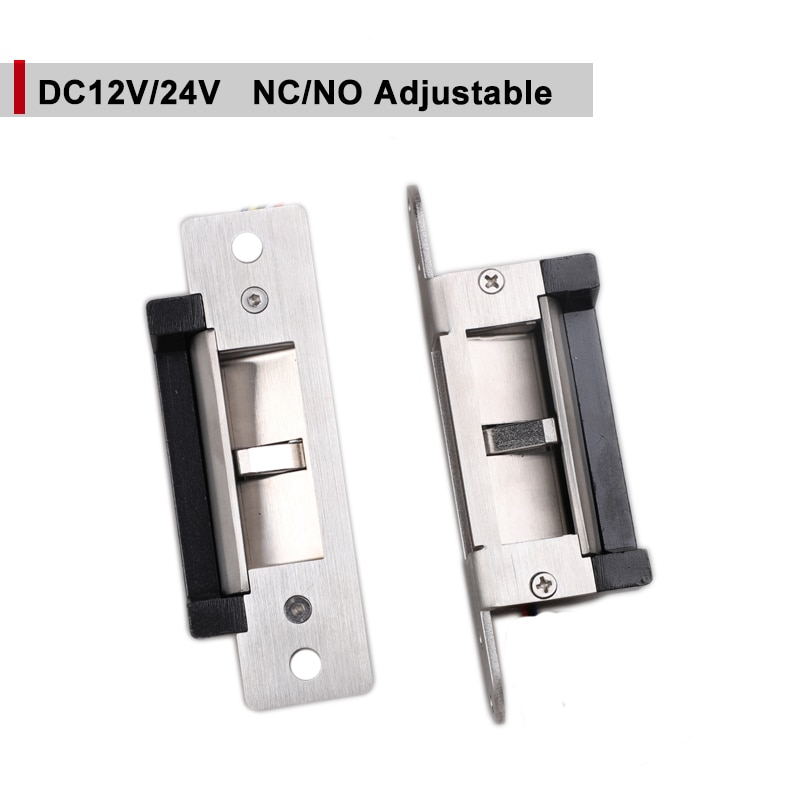 DC24V Oberfläche Montiert ELEKTRISCHE STRIKE Signal Heraus ANSI Schloss Fail Secure Fail Safe Einstellbare Für Access Control Holz Metall Tür