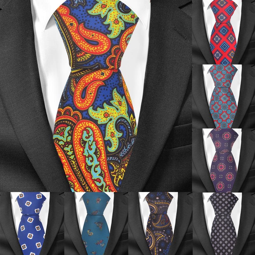 Nuevo Floral impresión corbata para los hombres de las mujeres de moda clásica de corbata para boda Casual para hombre corbatas trajes 7 cm ancho corbatas corbata