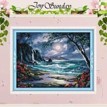 Набор для вышивки крестиком «Море Луны», 11CT 14CT, оптовая продажа