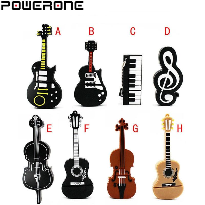 POWERONE guitarra, piano música mark pen drive USB instrumento de música memory Stick Pendrive 4gb 8gb 16gb 32gb 64gb de disco u