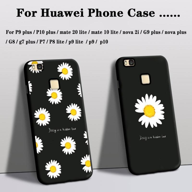 Phone Case For huawei p9 p10 g7 g9 nova plus p7 p9 p10 Cover Silicone mate 20 10 p8 lite nova 2i Case Rose Flower Floral Cover