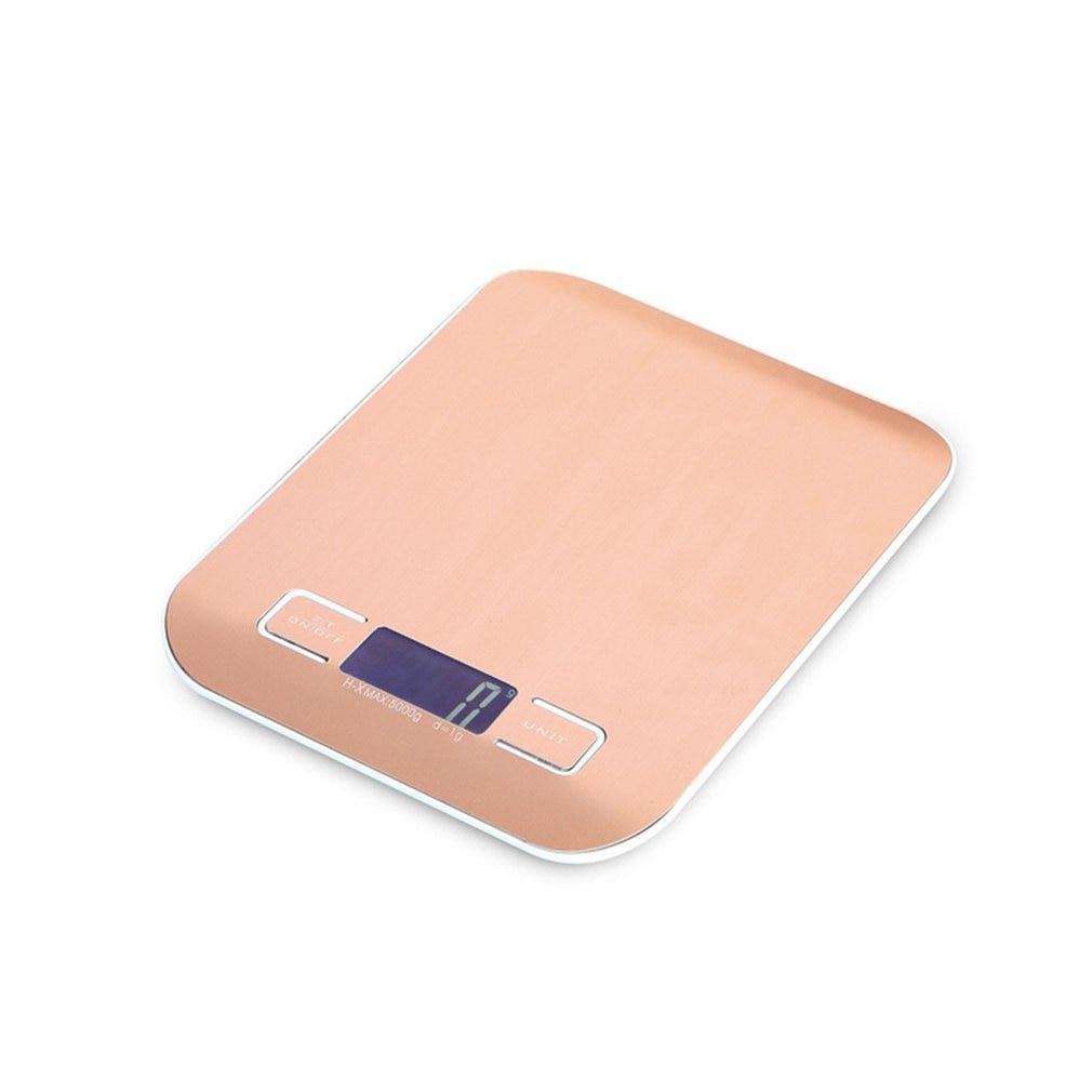HT-2012 portátil Digital de cocina Escala de acero inoxidable electrónica pantalla LCD comida escalas escala de la joyería de 5000g/1g de oro rosa
