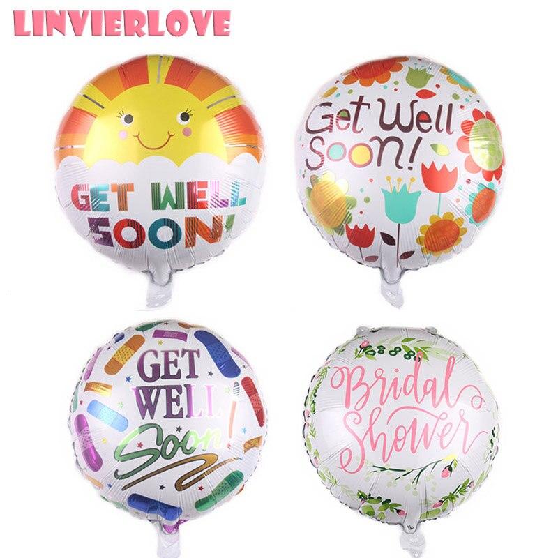 1 Uds. Se recuperan pronto, globo de aluminio, decoraciones para fiesta de boda, globo de helio inflable español para novia, suministros para eventos festivos