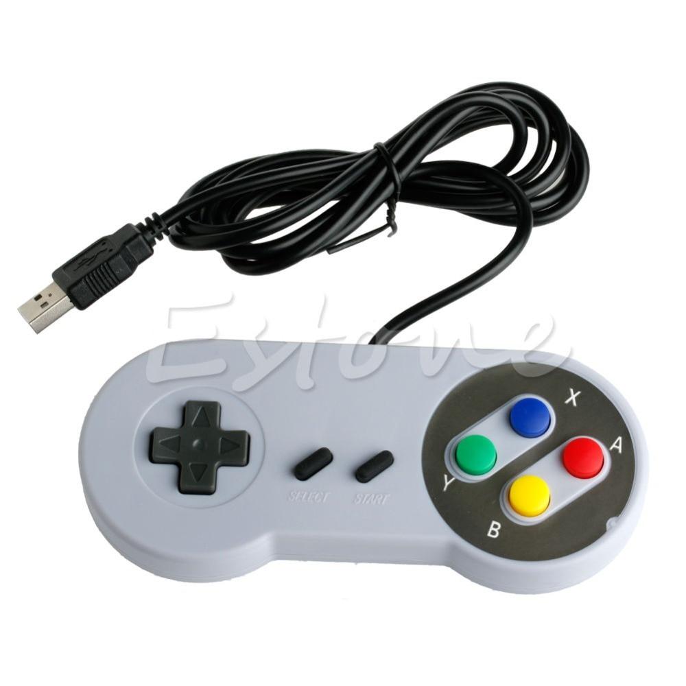 1PC USB Controller For Super Nintendo SNES PC/ Mac Emulator NES Windows GamePad Oct30 Drop ship