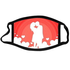 Love Party Mask For Adult Women And Men Reusable Colorful Fabric Face Mask Fashionable Neutral Washable Mask