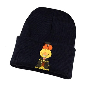 Anime Assassination Classroom Knitted Hat Cosplay Hat Unisex Print Adult Casual Cotton Hat Teenagers Winter Knitted Cap