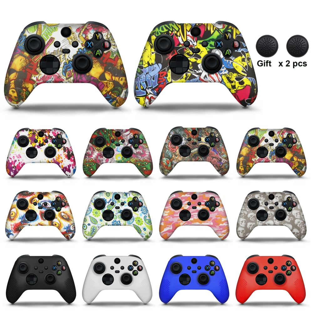 For Xbox Series X Controller Silicone Cover Rubber Skin Grip Case Protective For Xbox Series X Joystick Gamepad