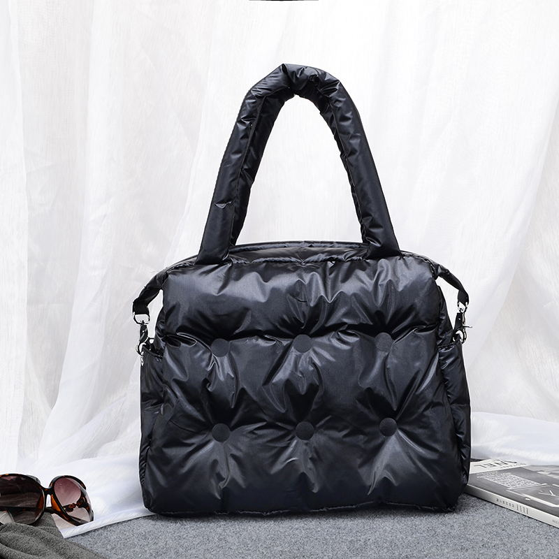 Bolso de hombro para mujer espacio almohadilla de algodón pluma abajo bolso de cubo Bolsa principal Carteira Bolsa femenina ZF10351