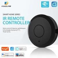 Telecommande intelligente WiFi  telecommande IR  commande vocale  application Tuya  Compatible avec Google Assistant Echo  prend en charge toutes les maisons compatibles IR