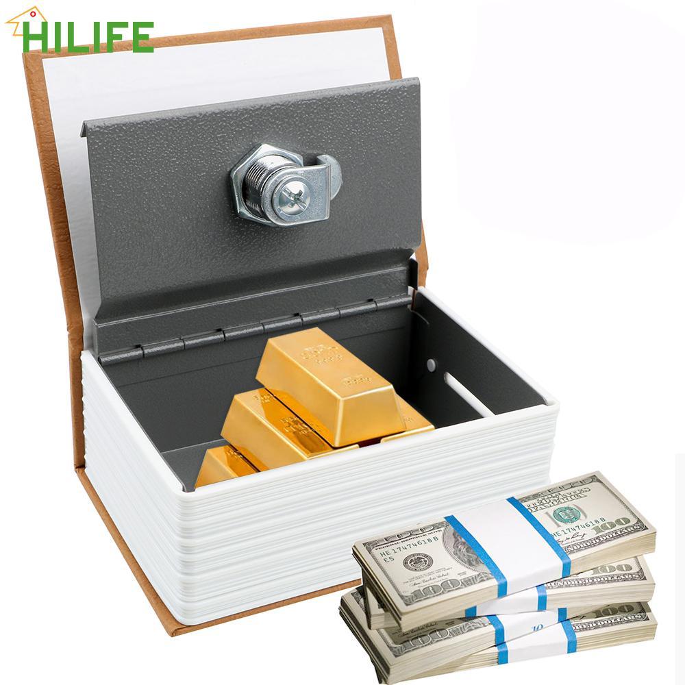 Creative dictionary coin piggy bank birthday gift for kids secret hidden security safe lock book coin piggy banks