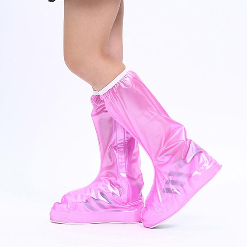 Boots covers shoes waterproof high top platic non slip rain shoe covers 2019 fashion rain cover shoes
