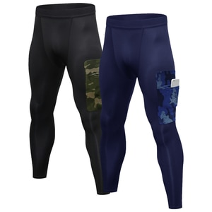 2 Pack Men Compression Pants Fitness Pants Quick Dry Sports Fitness Workout Running Jogging Baselayer Leggings Tights